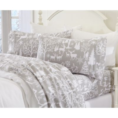Great Bay Home Enchanted Woods Flannel Sheet Set Bed Bath Beyond