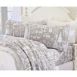 Great Bay Home Enchanted Woods Flannel Sheet Set