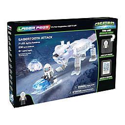 Laser Pegs Creatures Sabertooth Attack 230-Piece Block Set