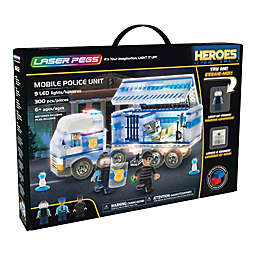 Laser Pegs Heroes Mobile Police Unit 300-Piece Block Set
