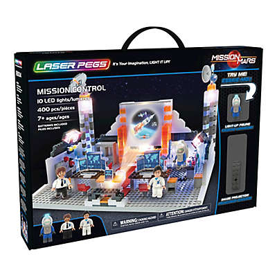 Laser Pegs Mission Mars Mission Control 400-Piece Block Set