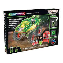Laser Pegs Monster Rally Green Monster Truck 290-Piece Block Set