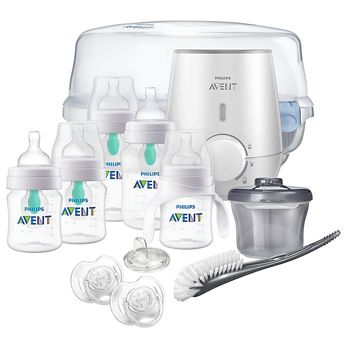 Alternate image 1 for Philips Avent Anti-Colic Bottle with AirFree All-in-One Gift Set