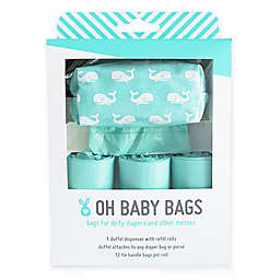 Oh Baby Bags Baby Duffel Gift Box in Whales