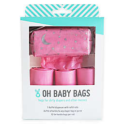Oh Baby Bags Baby Duffel Gift Box in Pink Stars