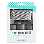 Oh Baby Bags 12-Count Refill Bags and Duffel Dispenser in Grey/White