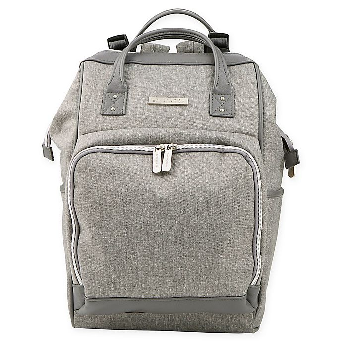 Alternate image 1 for Bananafish Melanie Backpack Diaper Bag in Grey