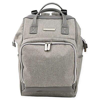 Bananafish Melanie Backpack Diaper Bag in Grey