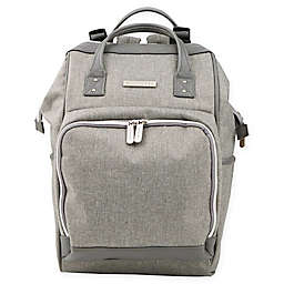 Bananafish Melanie Backpack Diaper Bag in Grey