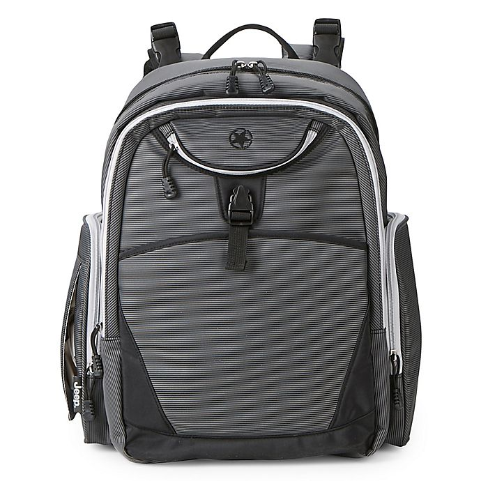 Alternate image 1 for Jeep® Adventurer's Backpack Diaper Bag in Grey