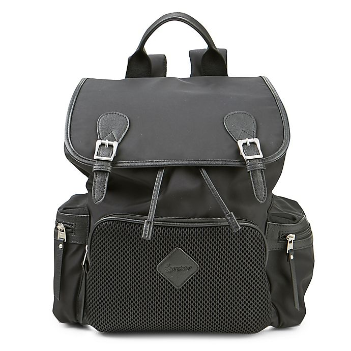 Alternate image 1 for Ergobaby™ Mesh Front Diaper Bag Backpack in Black