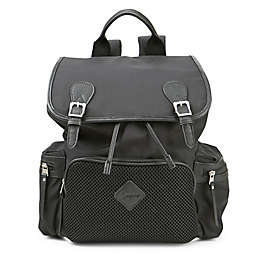 Ergobaby™ Mesh Front Diaper Bag Backpack in Black