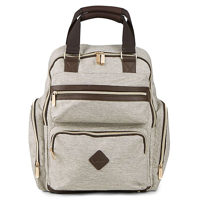 Alternate image 1 for Ergobaby™ Convertible Diaper Backpack in Brown