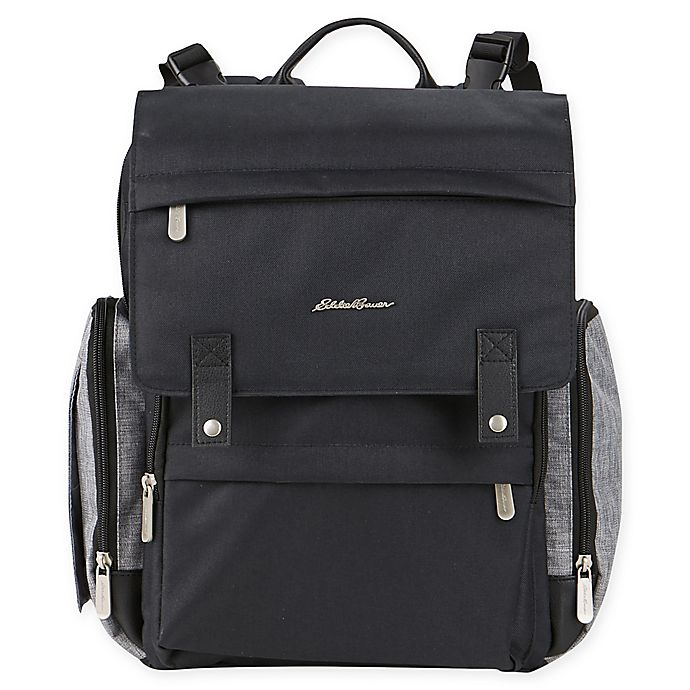 Alternate image 1 for Eddie Bauer® Crosstown Backpack Diaper Bag in Black