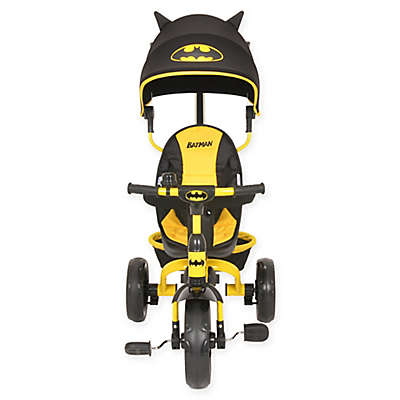 KidsEmbrace® Batman 4-in-1 Push and Ride Stroller Tricycle in Black/Yellow
