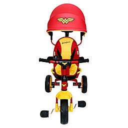 KidsEmbrace® Wonder Woman 4-in-1 Push and Ride Stroller Tricycle in Red/Yellow