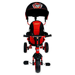 KidsEmbrace® PAW Patrol Marshall 4-in-1 Push and Ride Stroller Tricycle in Black/Red