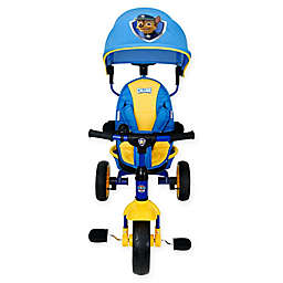 KidsEmbrace® PAW Patrol Chase 4-in-1 Push and Ride Stroller Tricycle in Blue/Yellow
