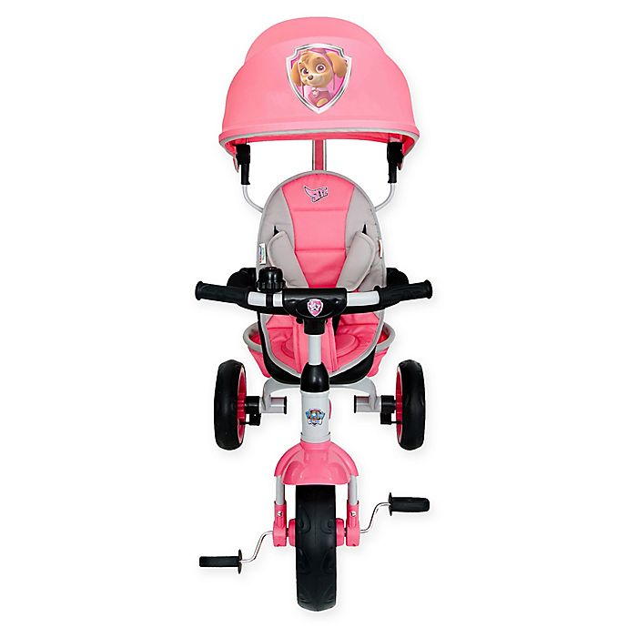 Alternate image 1 for KidsEmbrace® PAW Patrol Skye 4-in-1 Push and Ride Stroller Tricycle in Pink