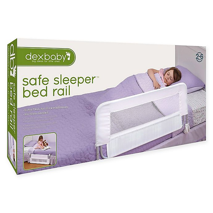 Alternate image 1 for Dexbaby Safe Sleeper Fold Down Single Bed Rail in White