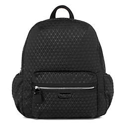 BabyMel Luna Ultra Lite Backpack Diaper Bag in Black Scuba