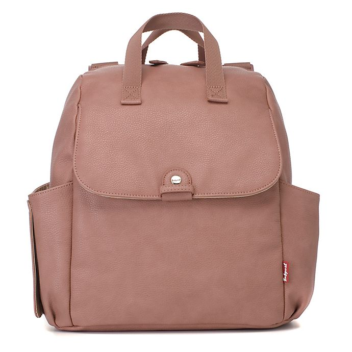 Alternate image 1 for BabyMel™ Robyn Faux Leather Convertible Backpack Diaper Bag