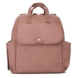 BabyMel™ Robyn Faux Leather Convertible Backpack Diaper Bag