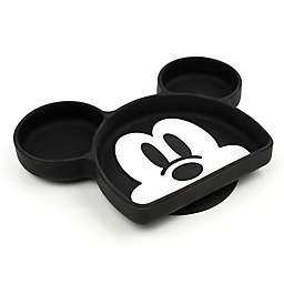 Bumkins® Mickey Mouse Silicone Grip Toddler Dish in Black
