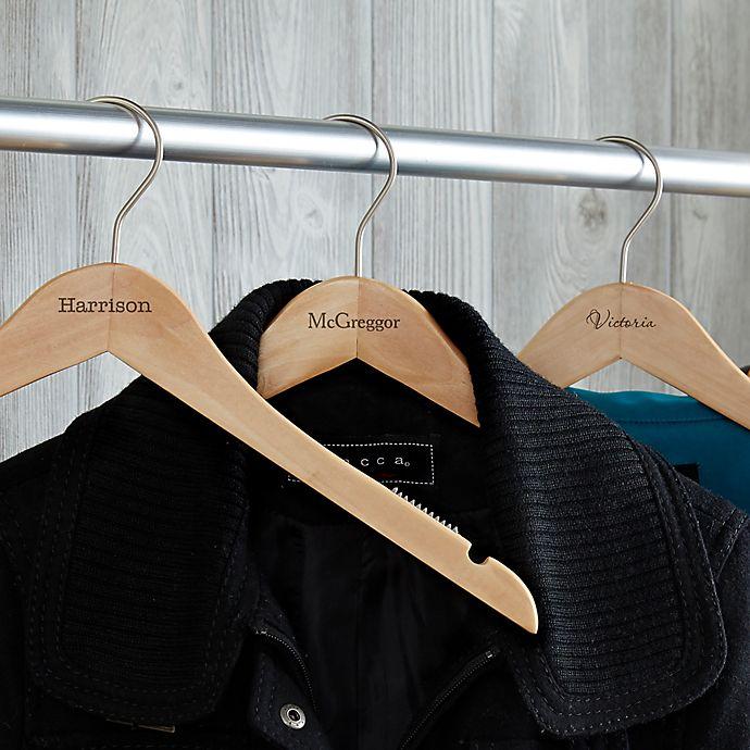 Alternate image 1 for Classic Closet Engraved Wood Hanger