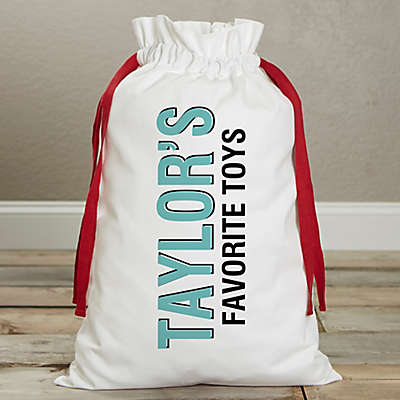 Bold Type Personalized Canvas Drawstring Kids Toy Bag