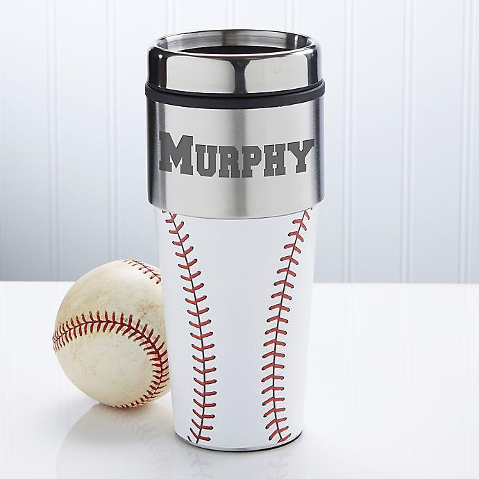 Alternate image 1 for Home Run Personalized Baseball Travel Mug