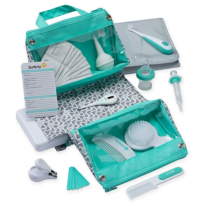 Alternate image 1 for Safety 1st® 30-Piece Welcome Baby Nursery Kit in Aqua