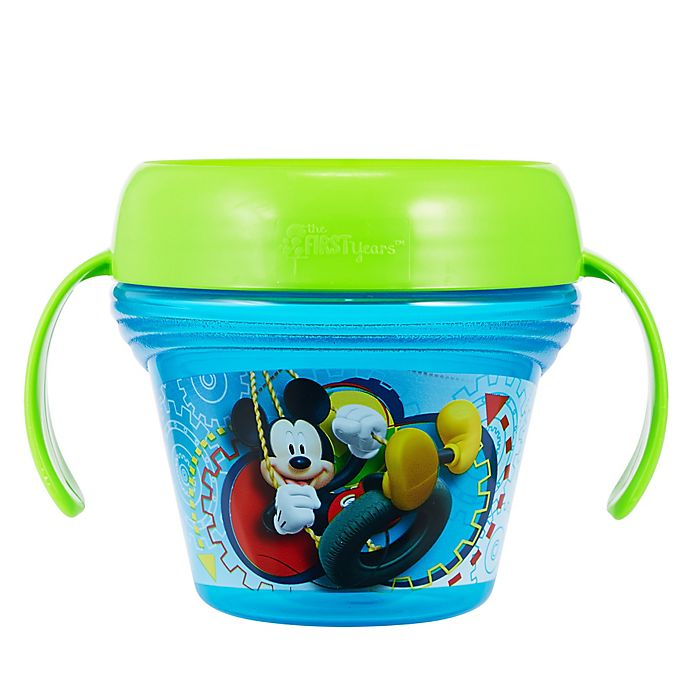 Alternate image 1 for The First Years™ Disney® Mickey Mouse Spill-Proof Snack Cup in Blue
