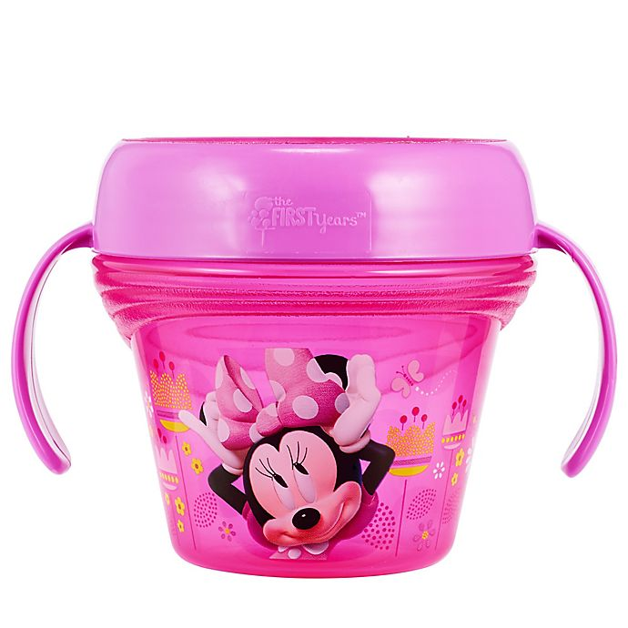 Alternate image 1 for The First Years™ Disney® Minnie Mouse Spill-Proof Snack Cup in Pink