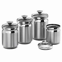 Tramontina Stainless Steel 4 piece set Canister