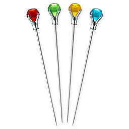 Prodyne 4-Piece Multicolor Bloody Mary Cocktail Skewers Set