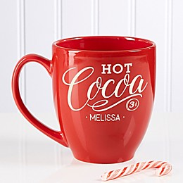 Hot Cocoa Personalized Vintage Bistro Mug
