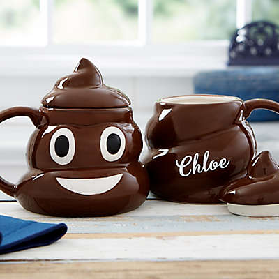 Emoticon Poop Personalized Coffee Mug