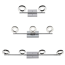 Rogue Décor Company Halo Wall Mount LED Vanity Light Collection in Polished Chrome