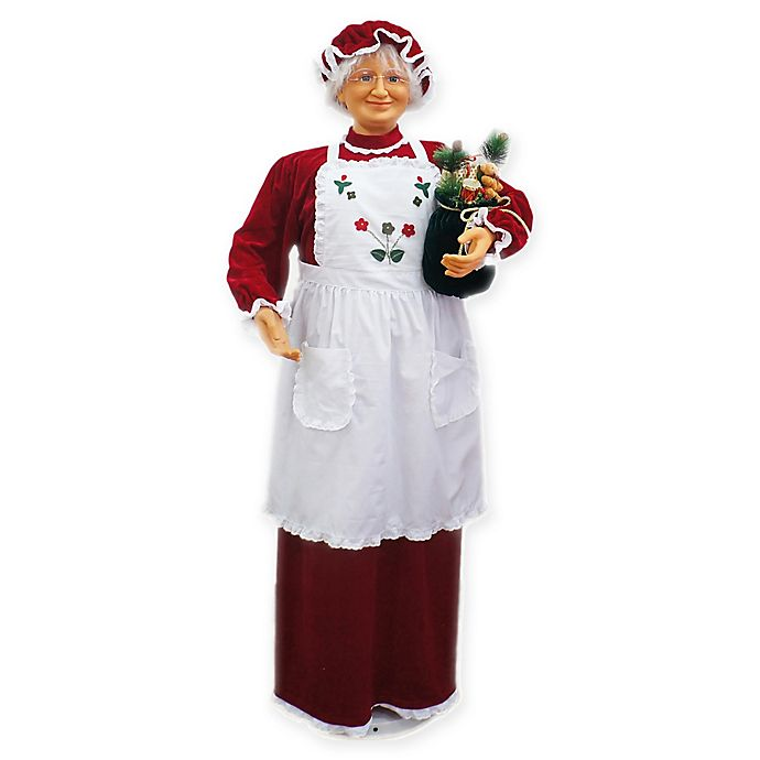 Alternate image 1 for Fraser Hill Farm 4.8-Foot Dancing Mrs. Claus Decoration in Red
