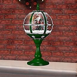 Fraser Hill Farm 23-Inch Musical Tabletop Globe in Green