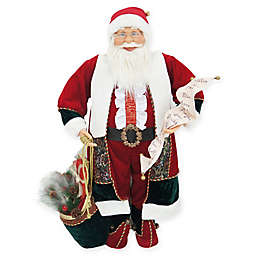 Fraser Hill Farm 36-Inch Music and Motion Santa with List Figurine