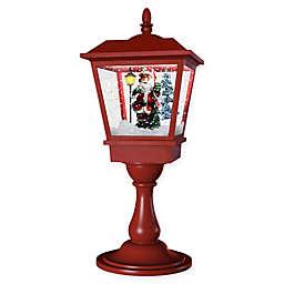 Fraser Hill Farm 25-Inch Musical Tabletop Lantern in Red