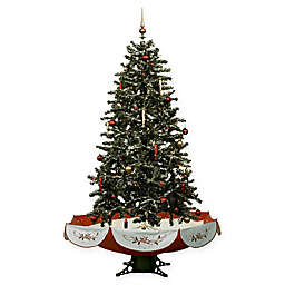 Fraser Hill Farm 55-Inch Snowing Artificial Christmas Tree