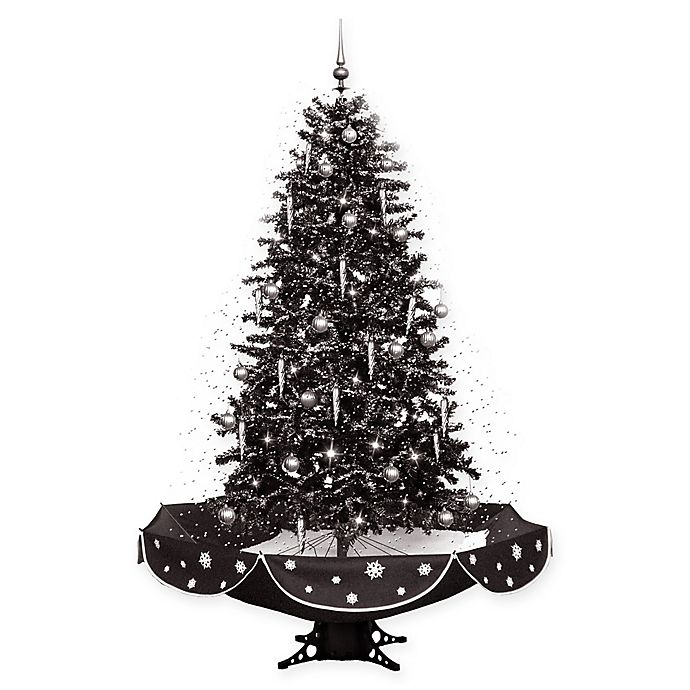 Fraser Hill Farm 75 Inch Snowing Artificial Christmas Tree With