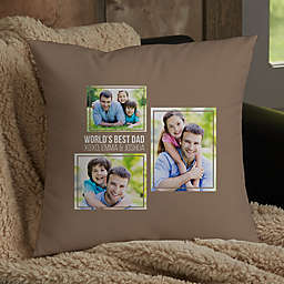 For Him 3-Photo Collage Personalized Throw Pillow Collection