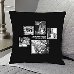 Wedding 5-Photo Collage Personalized Throw Pillow Collection