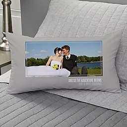 Wedding-Photo Personalized Lumbar Throw Pillow