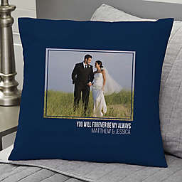 Wedding-Photo Personalized 18-Inch Square Throw Pillow