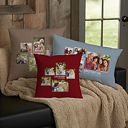 For Him 5-Photo Collage Personalized Throw Pillow Collection